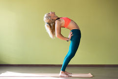 Ardha Chakrasana Pose Royalty Free Stock Photo
