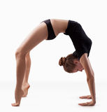 Ardha chakrasana Stock Photography