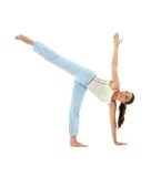 Ardha chandrasana half moon pose Stock Photography