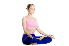 Ardha Padmasana, cross-legged pose Royalty Free Stock Photo