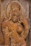 Ardhanareshwar, Shiva en tant que le demi homme et demi femme Temples de Mahakuta, Badami, Karnataka Image stock