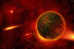Ardiente-Planeta Fotografía de archivo libre de regalías