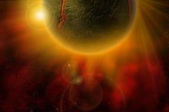 Ardiente-Planeta Foto de archivo libre de regalías