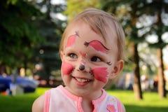 Ardilla del maquillaje de la niña Foto de archivo libre de regalías