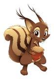 Ardilla, personaje de dibujos animados divertido Imágenes de archivo libres de regalías