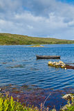 Ardmore Bay. Boat during high tide in Ardmore Bay, county Galway, Ireland Stock Photography