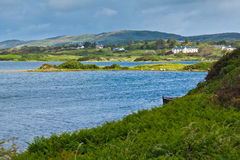 Ardmore bay and coast. Coast in a cloudy day at Ardmore bay, county Galway, Ireland Stock Photography