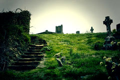 Ardmore kyrkogård royaltyfri bild