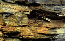Ardoise colorée de roche Images libres de droits