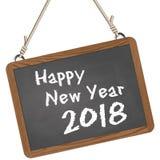 ardoise d'école avec des salutations de la nouvelle année 2018 Photographie stock libre de droits