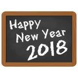 ardoise d'école avec des salutations de la nouvelle année 2018 Photographie stock