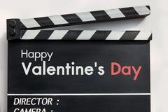 Ardoise de film d'histoire d'amour Photos libres de droits