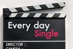 Ardoise de film d'histoire d'amour Image stock
