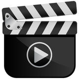 Ardoise de film de Media Player de film Photo libre de droits