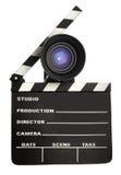 Ardoise et lentille de film image stock