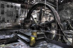 Ardoiserie. Wheel for cut old factory Stock Photography