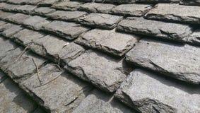Ardoises de toiture traditionnelles de Gallois Photo stock