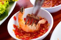 Ardor tailandês do camarão fotos de stock