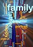 Ardore della nube di parola della famiglia Fotografie Stock