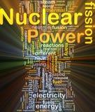 Ardore di concetto della priorità bassa di energia nucleare Immagini Stock