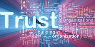 Ardore personale di concetto della priorità bassa di fiducia Immagini Stock