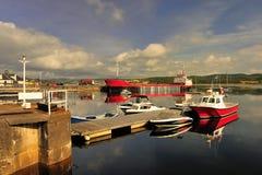 Ardrishaig schronienie, Szkocja Fotografia Royalty Free