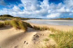 Ardroil Beach on the Isle of Lewis. Uig Sands beach ar Ardroil on the Isle of Lewis in the Outer Hebrides in Scotland stock photography