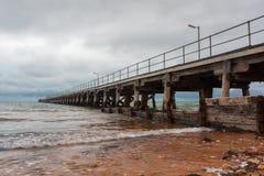 Ardrossan Jetty na Yorke półwysepie Południowy Australia na Luty 2 Obraz Stock