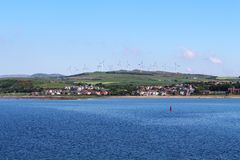 Ardrossan Wind Farm, North Ayrshire, Scotland Royalty Free Stock Photo