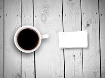 Ards  кофейной чашки и дела Ñ на досках Стоковые Изображения RF