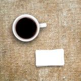 Ards  кофейной чашки и дела Ñ Стоковая Фотография