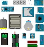 Arduino电子元素 库存图片