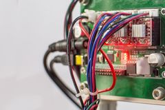 Arduino PCB. homemade devices. royalty free stock photography