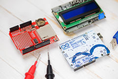 Arduino UNO microcontroller Royalty Free Stock Photo