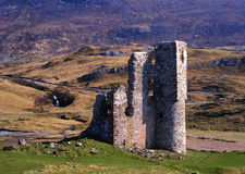 ardvreck assynt城堡海湾破坏苏格兰 免版税库存照片