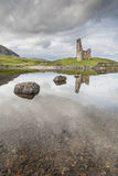 Ardvreck Castle on Loch Assynt in Scotland. Ardvreck Castle ruins on Loch Assynt in Scottish highlands stock photography