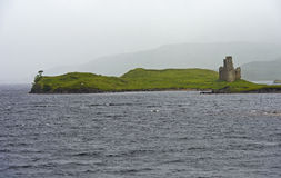 Ardvreck Castle at Loch Assynt Royalty Free Stock Images