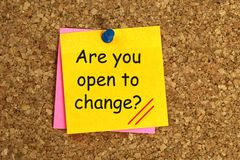 Are You Open To Change Message Royalty Free Stock Photos