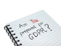 Are YOU Prepared For General Data Protection Regulation GDPR Stock Photography