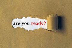 Free Are You Ready Heading Royalty Free Stock Images - 135995779