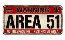 Free Area 51 Vintage Rusty Metal Sign Royalty Free Stock Photos - 169658528