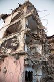 Area abbandonata della costruzione di edifici della riduzione di attività Fotografia Stock Libera da Diritti