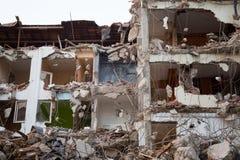 Area abbandonata della costruzione di edifici della riduzione di attività Immagine Stock Libera da Diritti