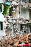 Area abbandonata della costruzione di edifici della riduzione di attività Fotografia Stock