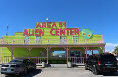 Area 51 Alien Center Stock Photo