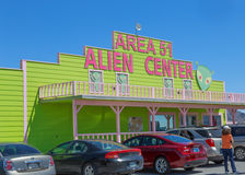 Area 51 Alien Center. In Nevada not far from Death Valley NP, complete with a brothel next door Royalty Free Stock Image
