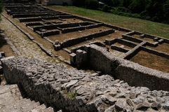 Area of archeology sepino. Area of archeology altilia sepino itlay stock photography
