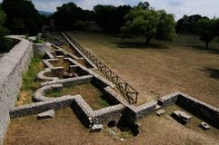 Area of archeology sepino. Area of archeology altilia sepino itlay royalty free stock images