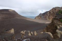 Area around Farol dos capelinhos. Area around of Capelinhos lighthouse in Faial island, Azores Portugal Stock Photography