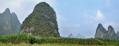 The area around small town Yangshuo in China is renowned for its karst landscape stock photography